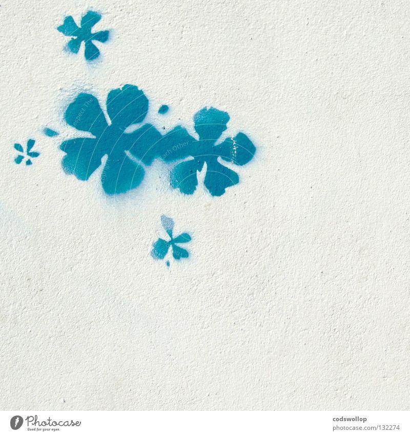 Hawaii Five-O blau weiß Sommer Blume Graffiti Wand Mauer Kunst Fassade Design Zeichen Kultur Jugendkultur exotisch Wandmalereien Straßenkunst