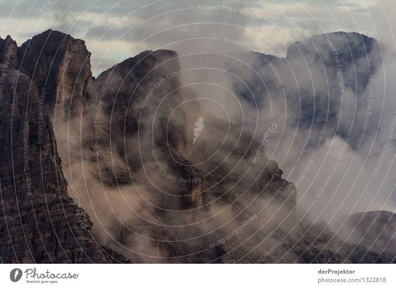 Morgennebel in denDolomiten Natur Ferien & Urlaub & Reisen Pflanze Sommer Landschaft Tier Ferne Berge u. Gebirge Umwelt Gefühle Freiheit Felsen Nebel Tourismus