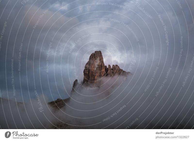 Wolkenspiel am Croda da Logo II Ferien & Urlaub & Reisen Tourismus Ausflug Abenteuer Ferne Freiheit Expedition Camping Sommerurlaub Berge u. Gebirge Umwelt
