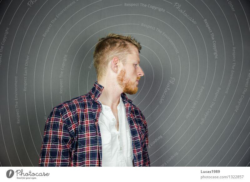 bereit für den Herbst Mensch Jugendliche Mann Erotik Junger Mann 18-30 Jahre Erwachsene Stil Haare & Frisuren Mode maskulin blond lernen Bekleidung Studium