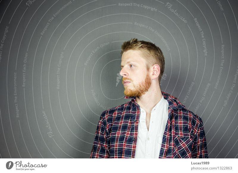 Mensch Jugendliche Mann Einsamkeit Junger Mann 18-30 Jahre Erwachsene Gefühle Denken Haare & Frisuren Mode Stimmung Arbeit & Erwerbstätigkeit maskulin blond