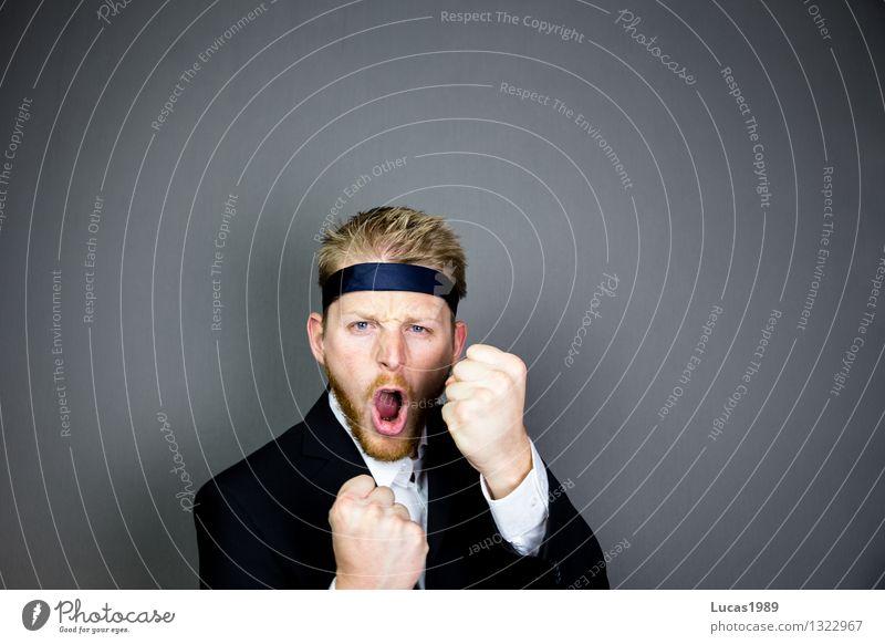 Büro-Ninja Mensch Jugendliche Mann Junger Mann Erwachsene Business Arbeit & Erwerbstätigkeit Büro Kraft Erfolg lernen Studium Coolness Macht Beruf Leidenschaft
