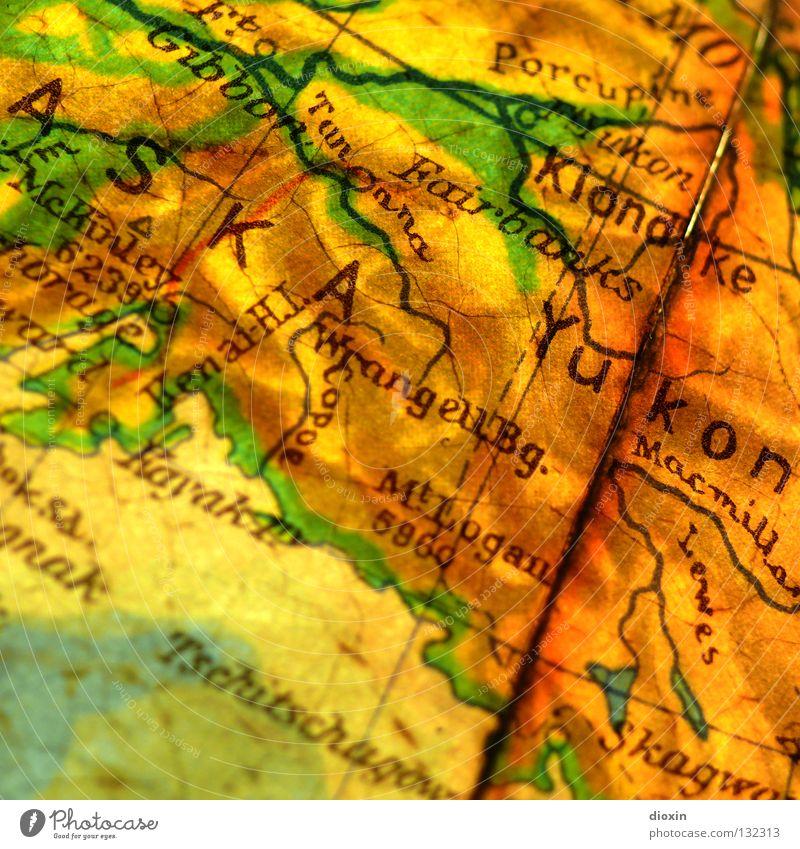 In 20 Tagen um die Welt; Tag19: Yukon River Gold Geografie Globus Landkarte global Nordamerika British Columbia weltweit Alaska Goldbarren Polarkreis Goldrausch