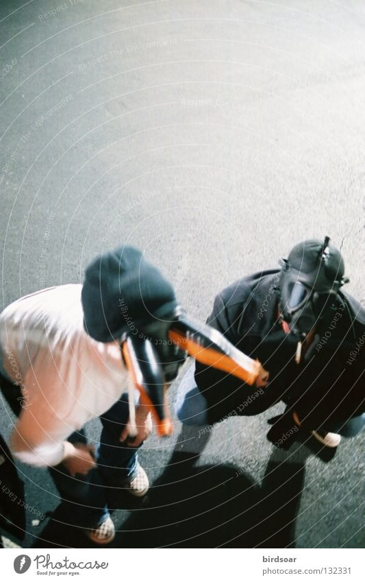 gas mask reunion matt Steve Parkplatz gas masks Filmindustrie antiphotoshop spät Nacht parking lot late night.