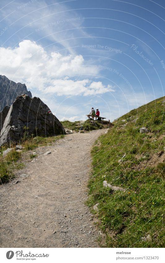 so schööööööööö Mensch Natur blau grün schön Sommer Erholung Landschaft Erwachsene Berge u. Gebirge Gras grau Stimmung Felsen Tourismus Erde