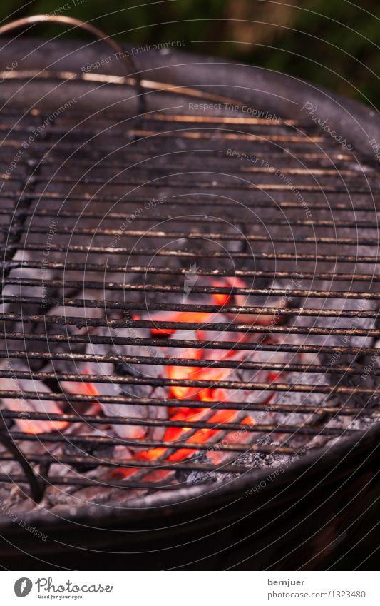Leer rot schwarz Foodfotografie Lebensmittel Metall dreckig authentisch Feuer heiß Grillen Griff Wahrheit Billig Glut Grillrost