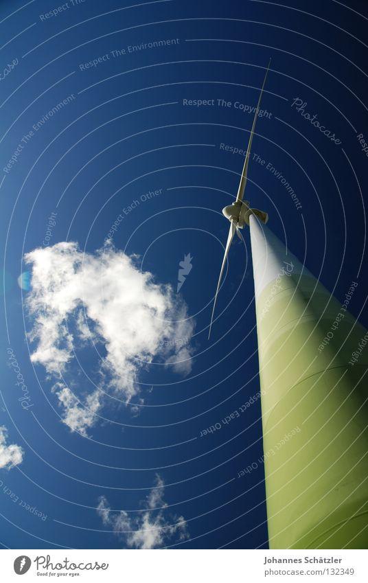 der Wächter Himmel blau grün Sommer Wolken Landschaft Frühling Gras Kraft Feld Energiewirtschaft Elektrizität Erneuerbare Energie Landwirtschaft Bauernhof