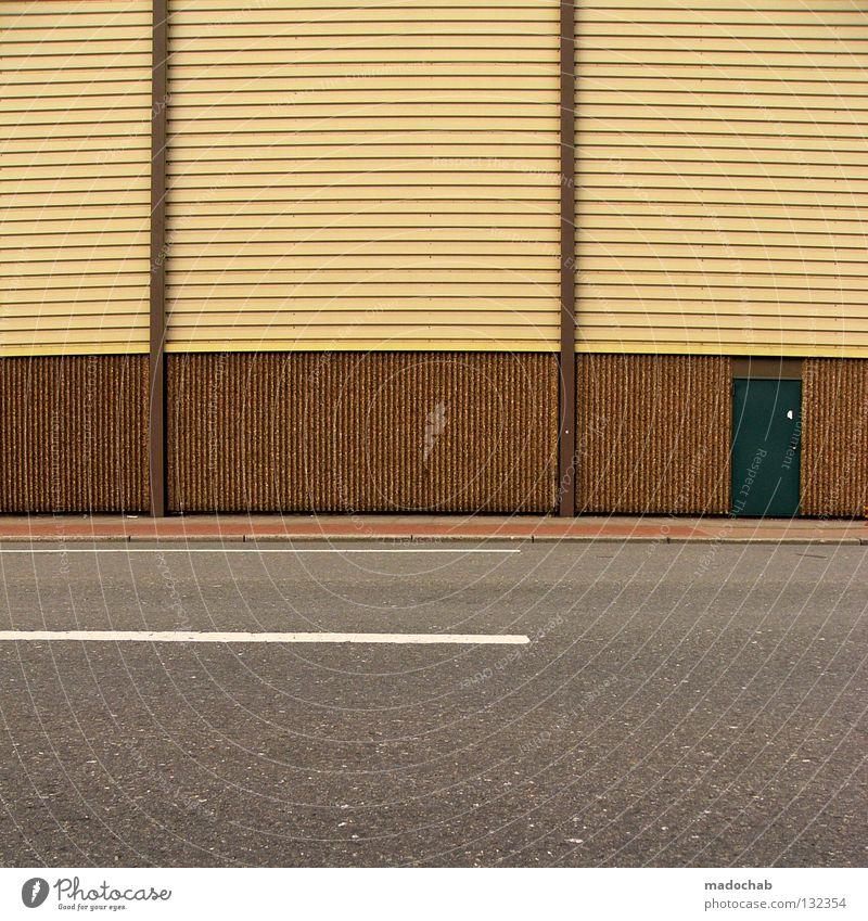 URBAN GRAPHICS FOR INGO - MY BUDDY Straße Wand Mauer Linie Tür Fassade Verkehr leer Streifen Grafik u. Illustration Asphalt Verkehrswege parallel Langeweile graphisch Unsinn