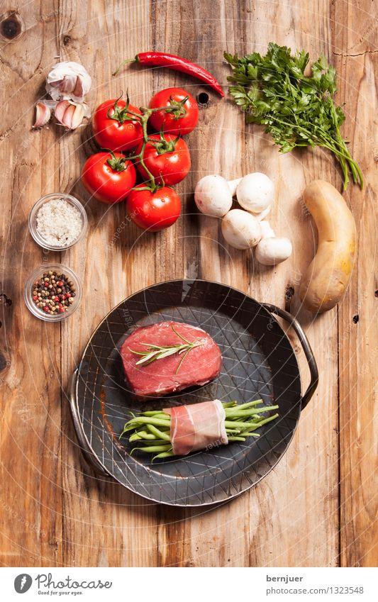 Adlerblick Lebensmittel Fleisch Gemüse Kräuter & Gewürze Bioprodukte Pfanne Gesundheit gut braun rot Appetit & Hunger Genusssucht Rinderlende Steak Rindfleisch