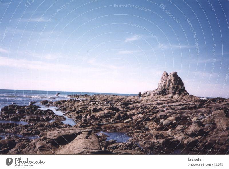 Steinwüste Strand Meer Ferien & Urlaub & Reisen Himmel Wasser