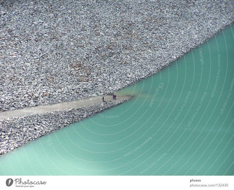 hier gehts nicht mehr weiter!! Wasser grün blau Ferne Farbe kalt oben Stein Wege & Pfade Eis Linie Erde klein groß hoch Elektrizität