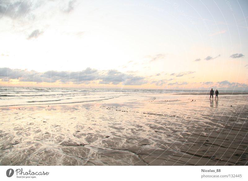 Strandspaziergang Natur Meer Strand ruhig Einsamkeit Ferne Erholung Küste