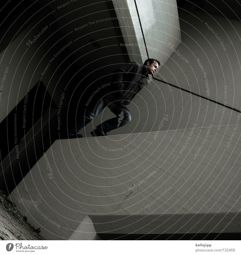 linienverliebtes mauerblümchen Motte springen Dieb Einbruch Kriminalität fallen Suizidalität Dummkopf Parkhaus Blick Hochhaus Kapitän Lampe Aussicht Navigation