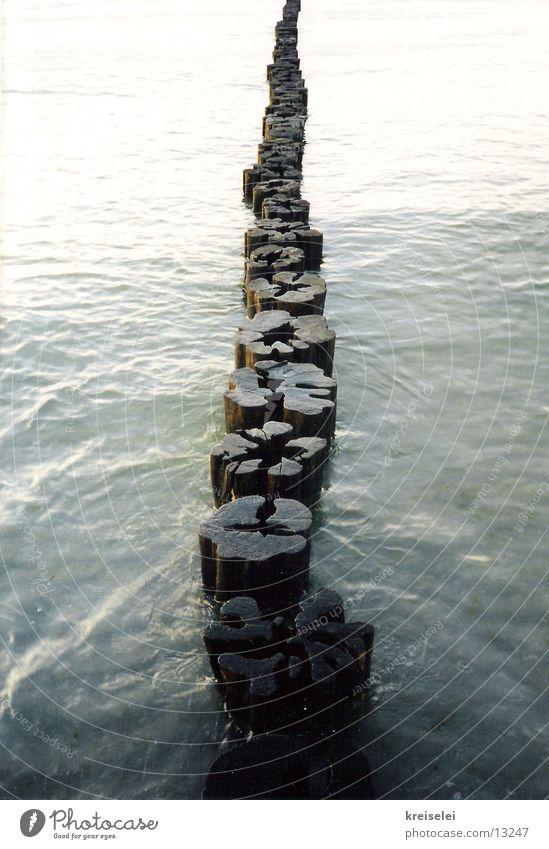 endlos Wasser Meer ruhig Holz Unendlichkeit Holzbrett Ostsee