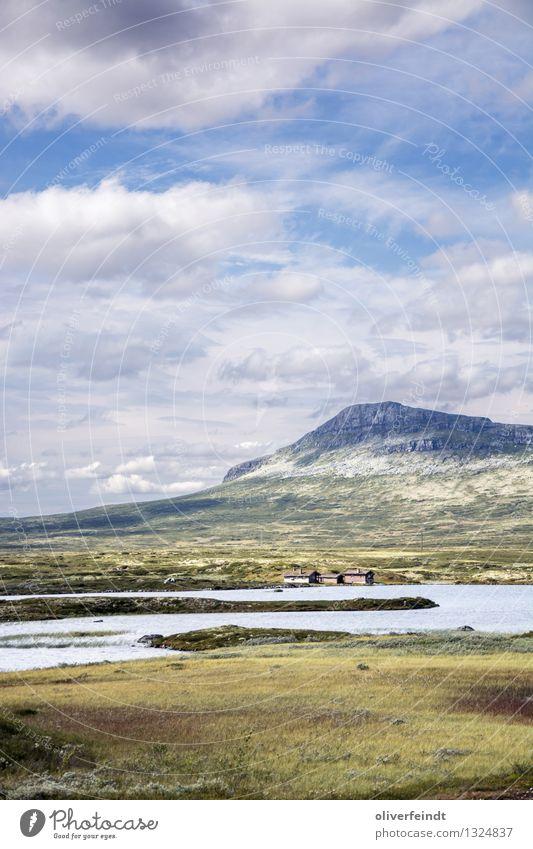 Rondane Nationalpark Ferien & Urlaub & Reisen Ausflug Abenteuer Ferne Freiheit Expedition Umwelt Natur Landschaft Himmel Wolken Horizont Schönes Wetter Wiese