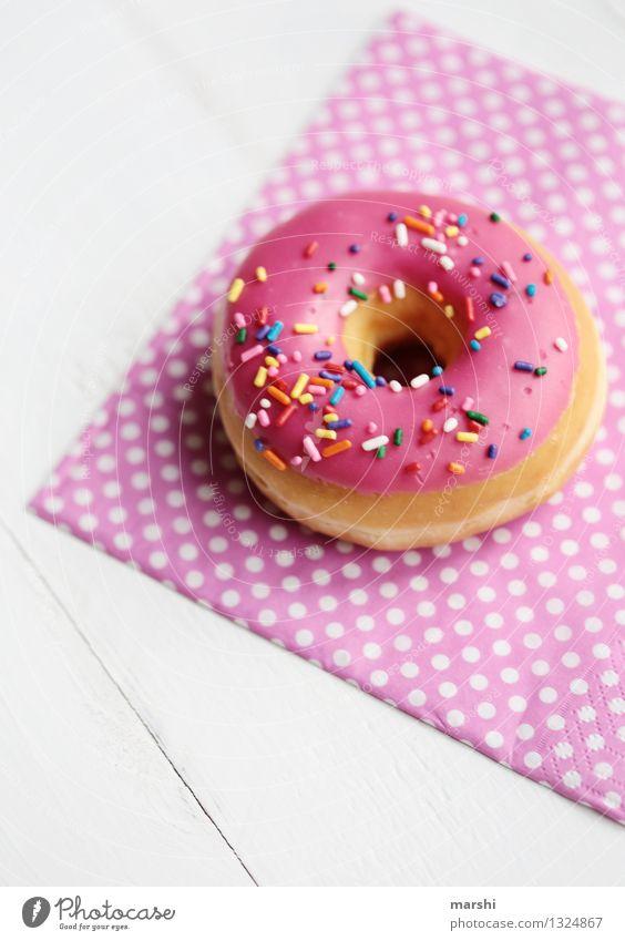 donut for free Lebensmittel Dessert Süßwaren Schokolade Marmelade Ernährung Essen Stimmung rosa Krapfen Kalorie Kalorienreich Streusel Serviette Foodfotografie