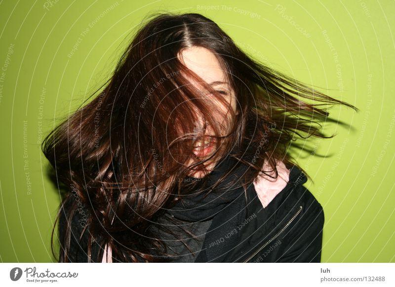 jenny Jugendliche grün Freude lustig Glück lachen Haare & Frisuren Lampe fliegen braun hell leuchten Luftverkehr Fröhlichkeit Lebensfreude rein