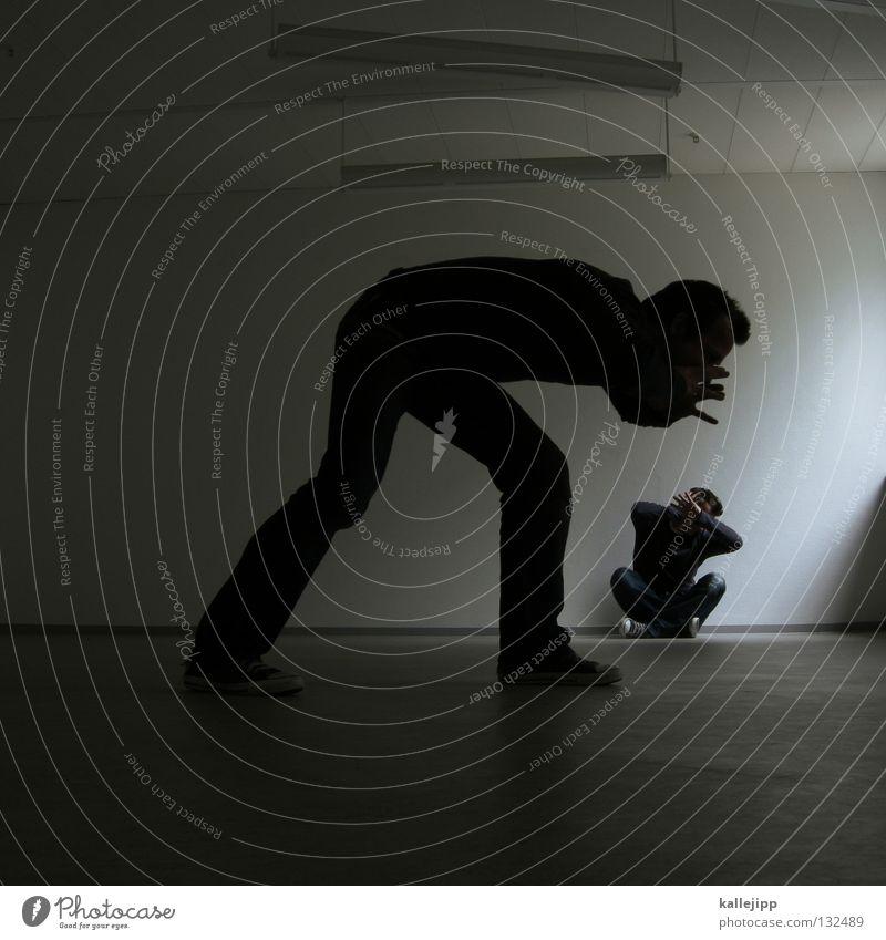 error Mensch Mann sprechen klein Paar Raum Arbeit & Erwerbstätigkeit Zusammensein groß Wachstum Zukunft Lifestyle Körperhaltung Kreativität Idee Frieden