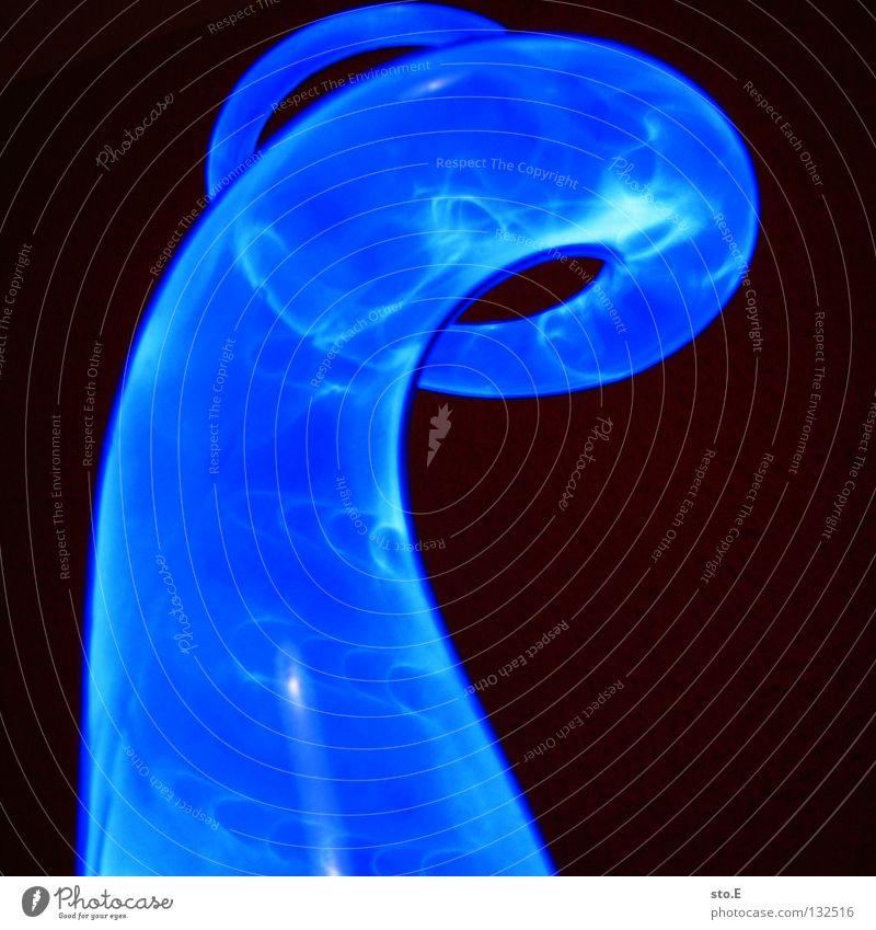 the source of illumination pt.6 blau schwarz Farbe Lampe dunkel Bewegung hell Beleuchtung glänzend Glas Hintergrundbild Geschwindigkeit Aktion Technik & Technologie rund Flügel