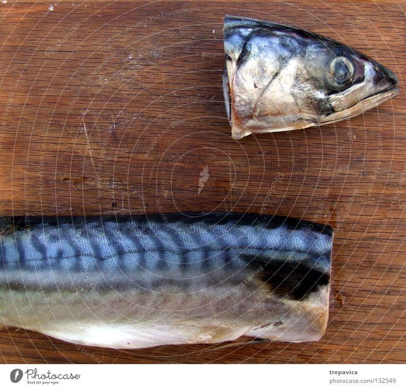 kopf I Auge Ernährung Tod Holz Traurigkeit Lebensmittel 2 Mund Fisch Trauer Gastronomie Symbole & Metaphern Schmerz Teilung Blut Angeln