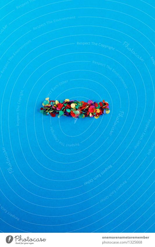 Bindestrich Kunst Kunstwerk ästhetisch Satzzeichen Konfetti blau mehrfarbig Fröhlichkeit viele Punkt Mosaik Design Kunsthandwerker Kreativität Idee Farbfoto