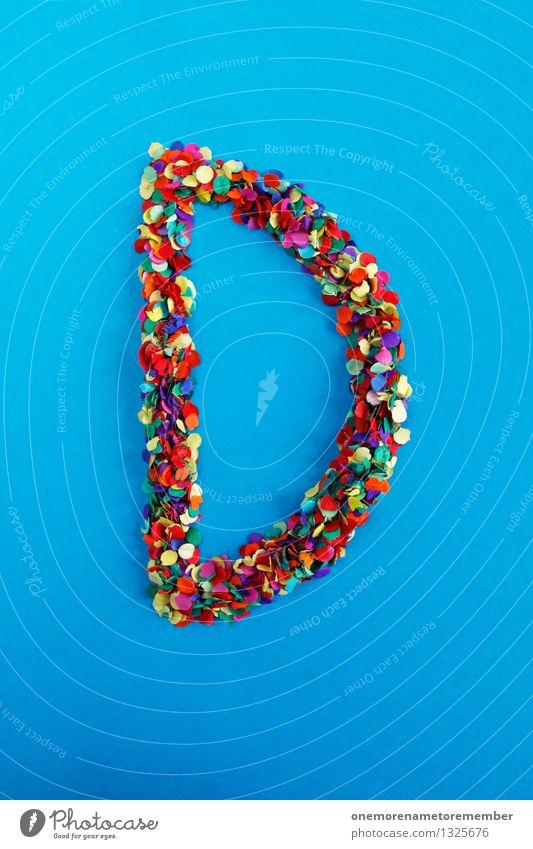 D Kunst Kunstwerk ästhetisch d Buchstaben Typographie alphabetisch Design Designwerkstatt Designmuseum Kreativität Idee mehrfarbig Konfetti Farbfoto