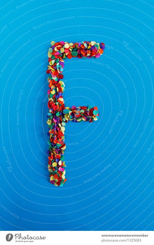 F blau Kunst Design ästhetisch Kreativität Idee Buchstaben Typographie Konfetti Mosaik alphabetisch