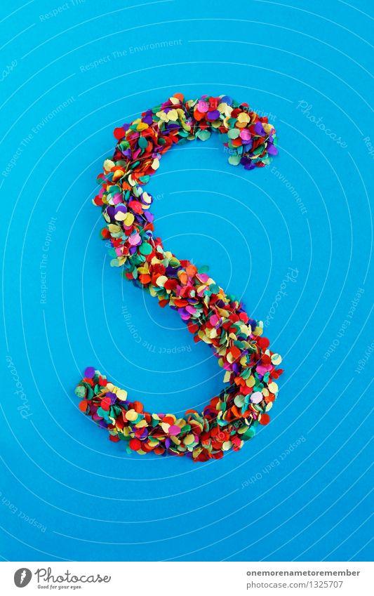 S Kunst Kunstwerk ästhetisch Buchstaben Typographie alphabetisch Konfetti Design Designwerkstatt Kreativität Idee gestalten Basteln viele Punkt Farbfoto
