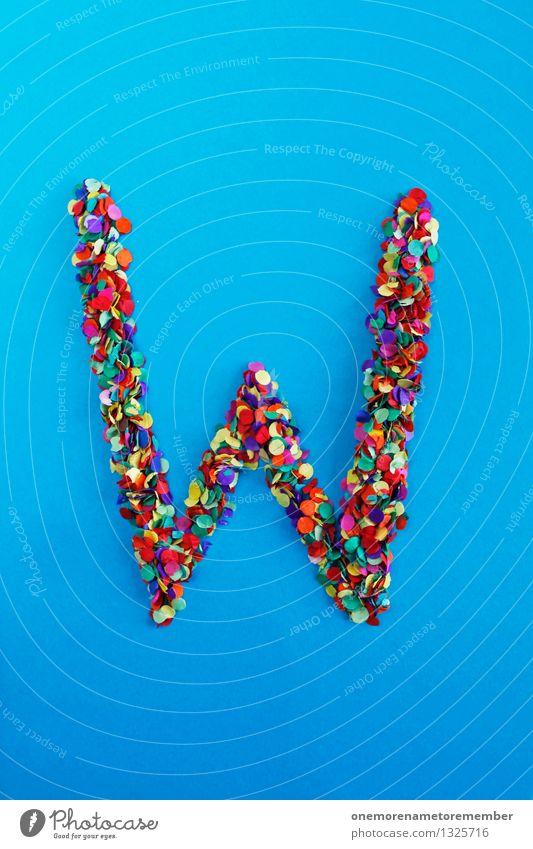 W Kunst Design ästhetisch Kreativität Idee Buchstaben Punkt viele Typographie Kunstwerk Konfetti Mosaik alphabetisch Designwerkstatt Designmuseum