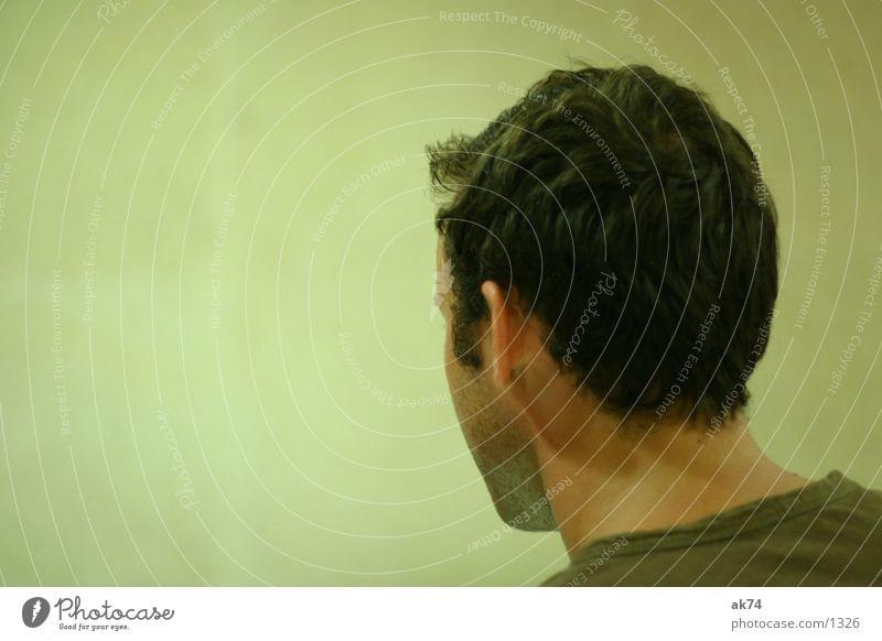 Schön von hinten Mann grün Haare & Frisuren Kopf Mensch Hals