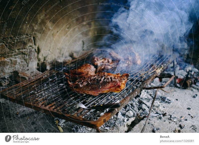 Asado Essen Feste & Feiern Lebensmittel authentisch Ernährung Kochen & Garen & Backen einfach lecker Grillen Fleisch Abendessen Picknick Mittagessen Festessen