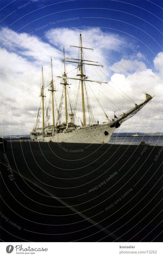 nur schiff, sonst nix Wasserfahrzeug Meer Ferien & Urlaub & Reisen Freizeit & Hobby Himmel blau