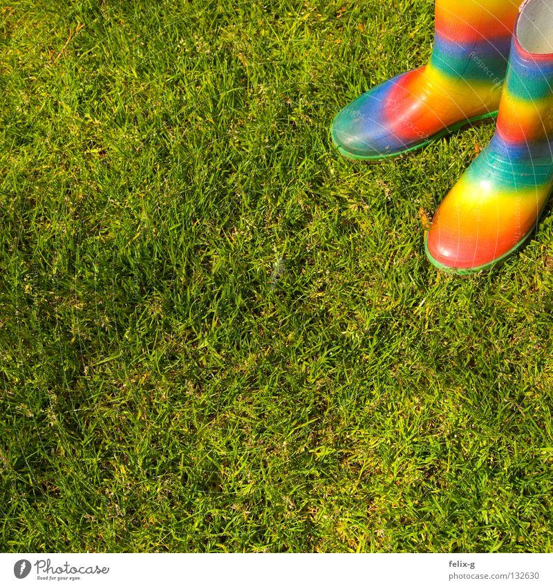 Meine neuen Stiefel :) grün Farbe Wiese Regen Schuhe nass Sportrasen Gummistiefel