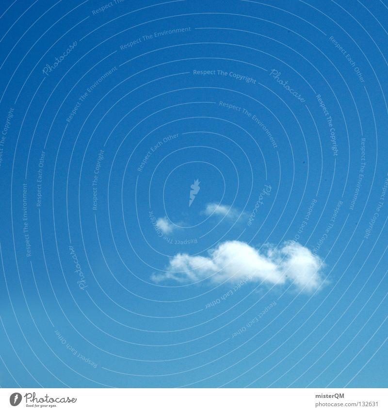 Smiling Sky. Himmel Ferien & Urlaub & Reisen blau schön Sommer weiß Meer Erholung Einsamkeit Wolken ruhig Freude Ferne Fenster kalt Wärme