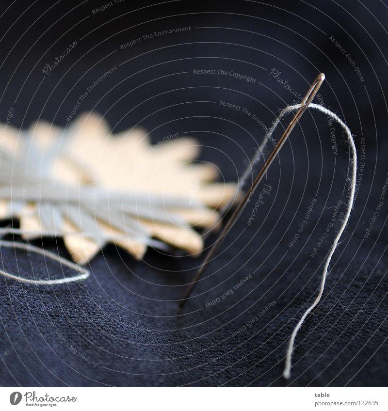 Nadelarbeit blau grau Metall Stern (Symbol) Bekleidung Stoff Jacke Schmerz Quadrat Handwerk Karton Knöpfe Nähgarn Haushalt Reparatur Nadel