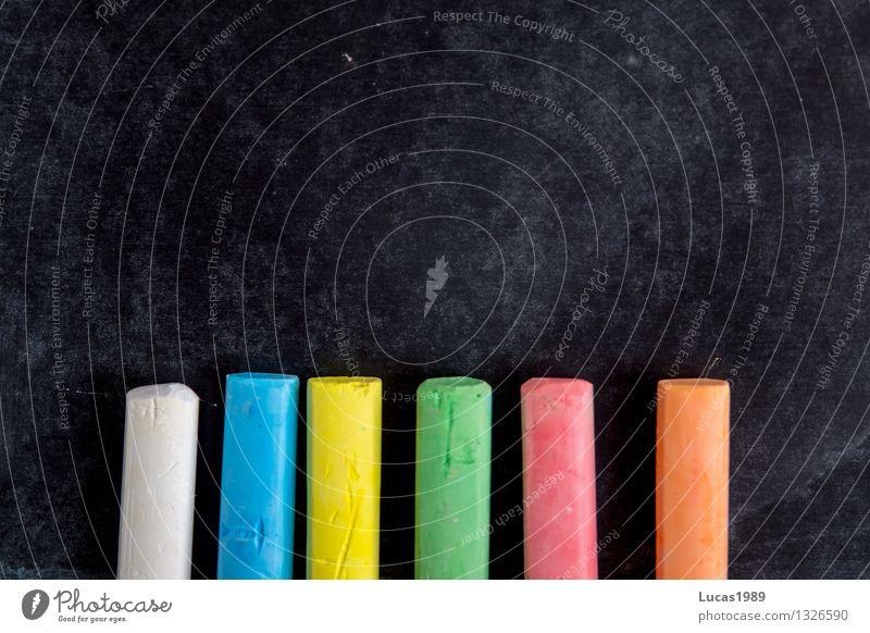 Schule Kind blau grün Farbe rot gelb Kunst orange Ordnung Schriftzeichen lernen Studium malen Bildung schreiben
