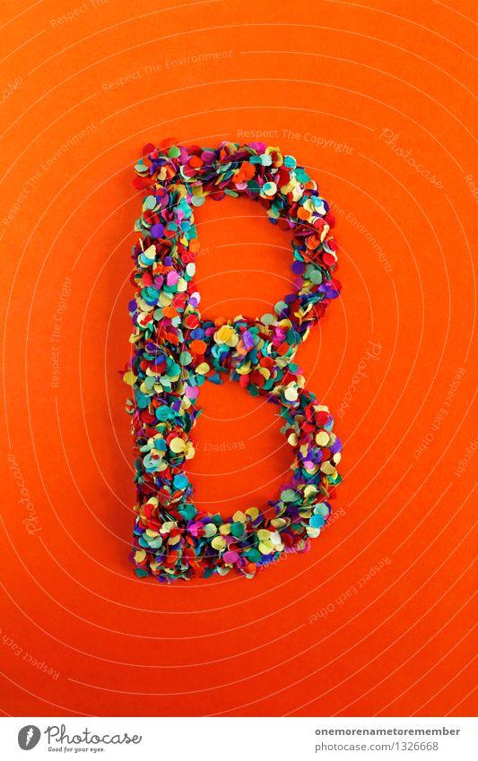 B Kunst Design ästhetisch Kreativität Idee Buchstaben Typographie Konfetti Mosaik Griechisches Alphabet orange-rot