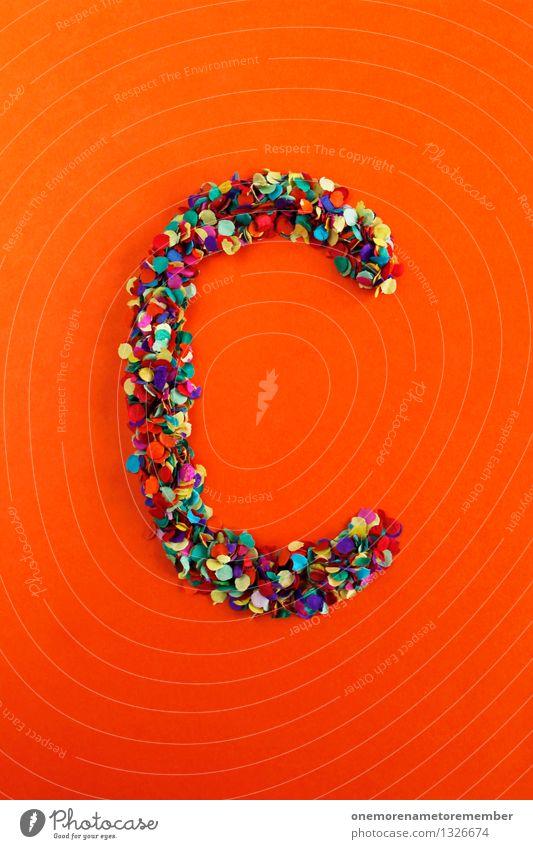 C Kunst Kunstwerk ästhetisch Buchstaben Typographie Griechisches Alphabet Mosaik Konfetti Kreativität Idee Design mehrfarbig gebastelt Farbfoto Innenaufnahme