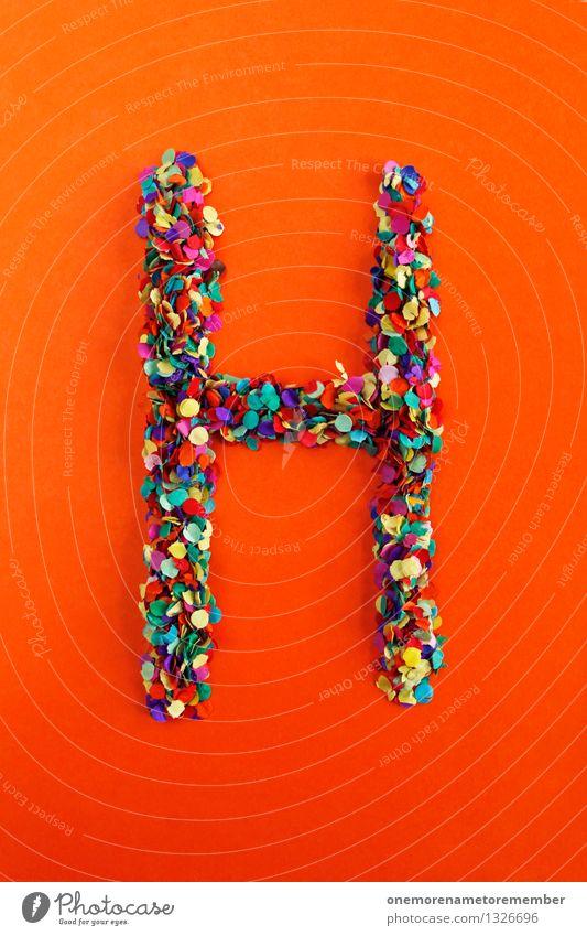 H Kunst Design ästhetisch Kreativität Idee Buchstaben Punkt viele Typographie Kunstwerk Konfetti Mosaik alphabetisch