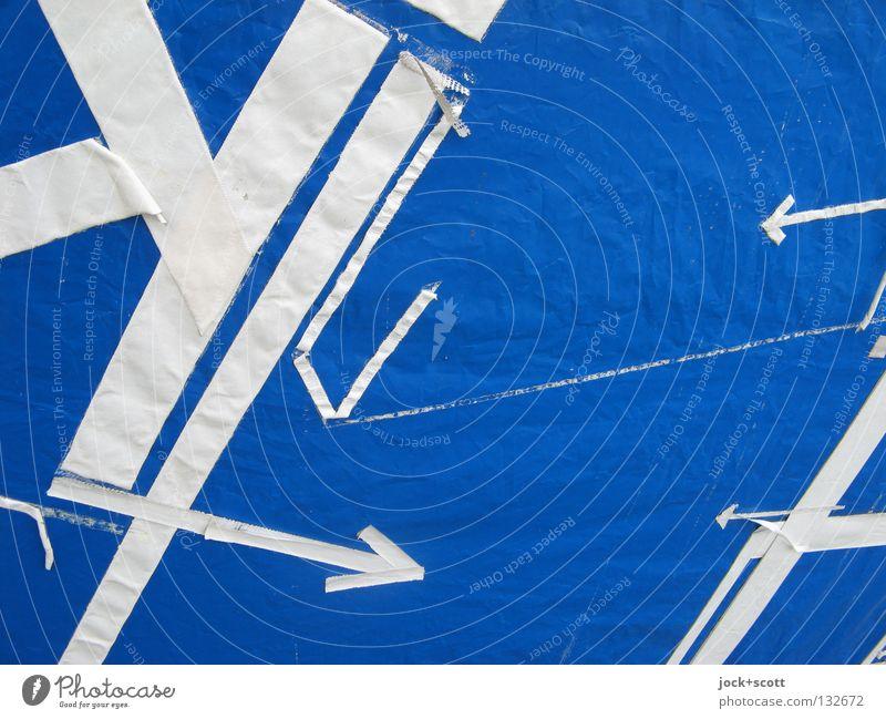Survey Linie Pfeil blau weiß Ordnung Ziel Zielvorstellung kreuzen Geometrie Grenze evident Richtung planlos gebraucht Linienstärke verbinden Oberfläche zwischen