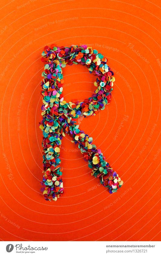 R Kunst Kunstwerk ästhetisch Buchstaben Typographie alphabetisch rot orange mehrfarbig Konfetti Kreativität Idee Design Farbfoto Innenaufnahme Experiment