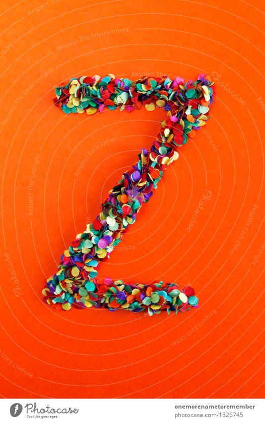 Z rot Kunst orange Design ästhetisch Kreativität Idee Buchstaben Typographie Kunstwerk Konfetti z alphabetisch