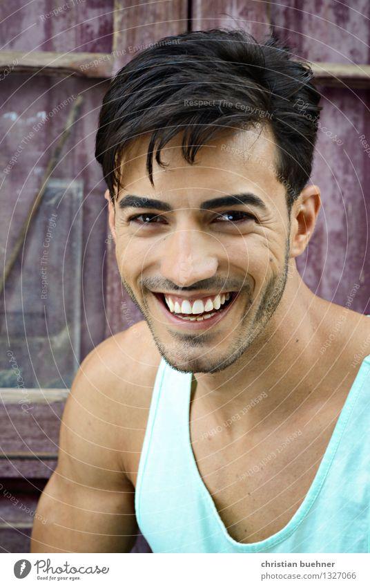 laughing guy Mensch Jugendliche schön Erotik Junger Mann Freude 18-30 Jahre Gesicht Erwachsene Leben Auge Gesundheit Glück lachen Mode frisch