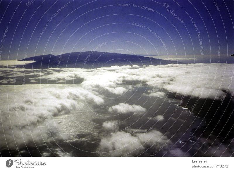 Wolkenüberblick Himmel blau fliegen