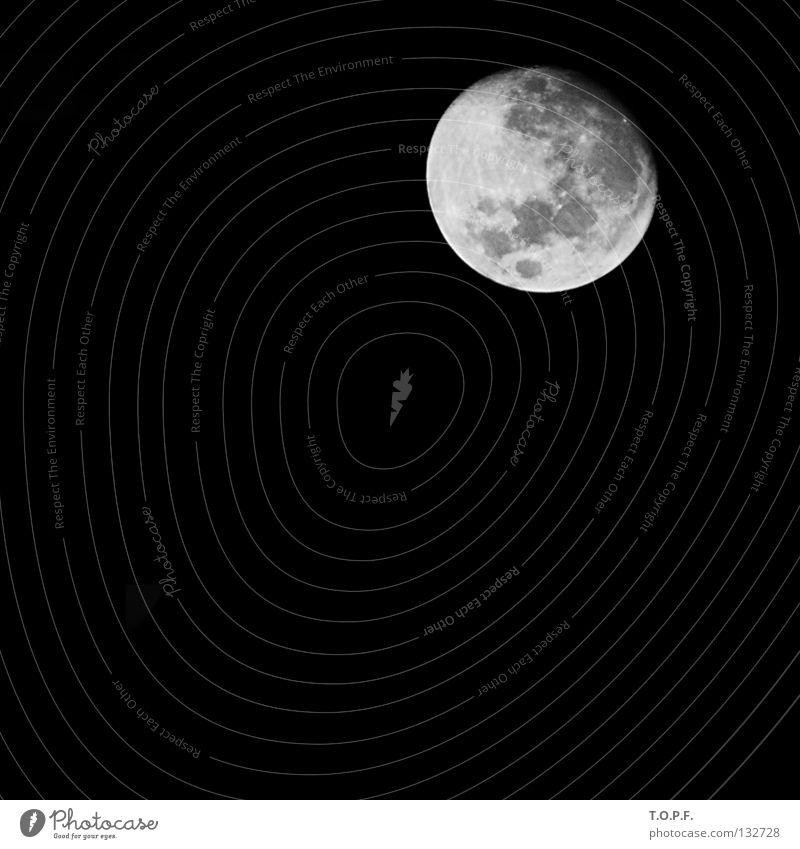 6/7 voll Himmel dunkel rund Alkoholisiert Mond Himmelskörper & Weltall Astronomie Vulkankrater