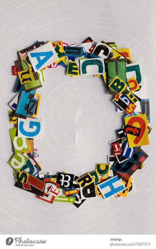 D Stil Design Bildung Schriftzeichen Lateinisches Alphabet Schnipsel Farbfoto mehrfarbig Freisteller Hintergrund neutral