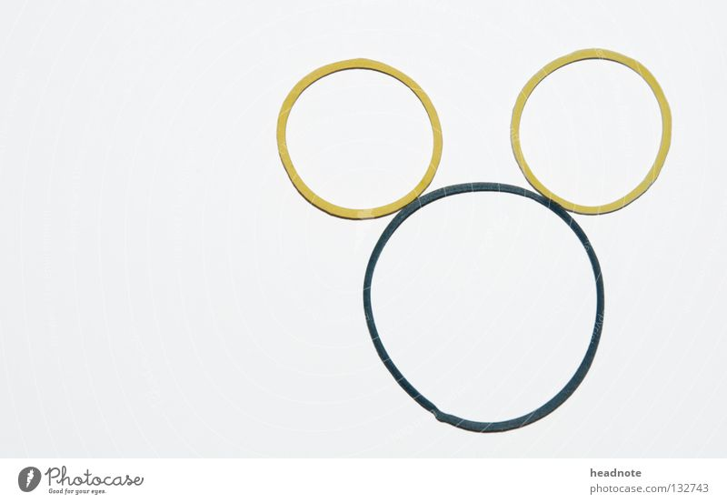Micky weiß gelb grün Comic Gummi Hollywood Walt Disney Fernsehen Kreis