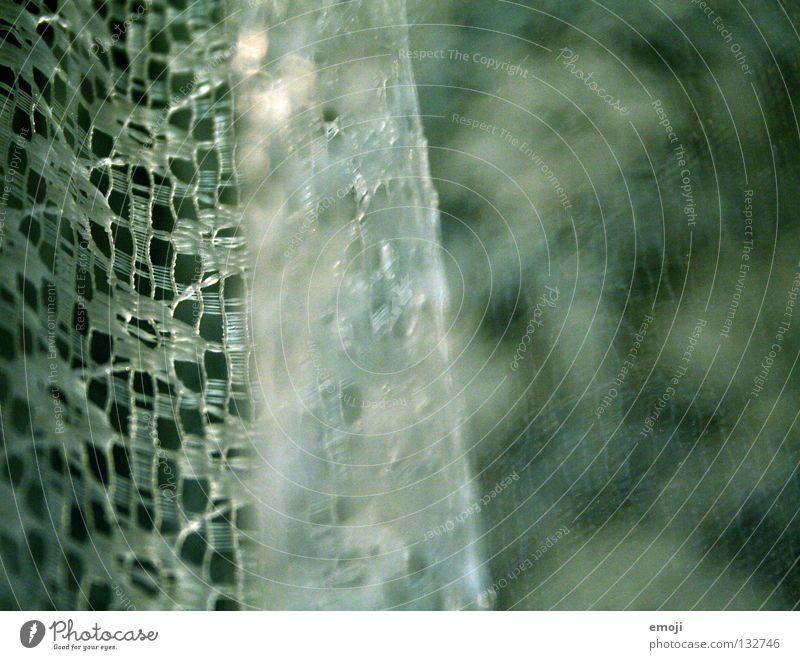 Stoff Gardine Vorhang Muster Unschärfe Tiefenschärfe Makroaufnahme durcheinander grün kalt zyan Vernetzung Dekoration & Verzierung verziert obskur träumen