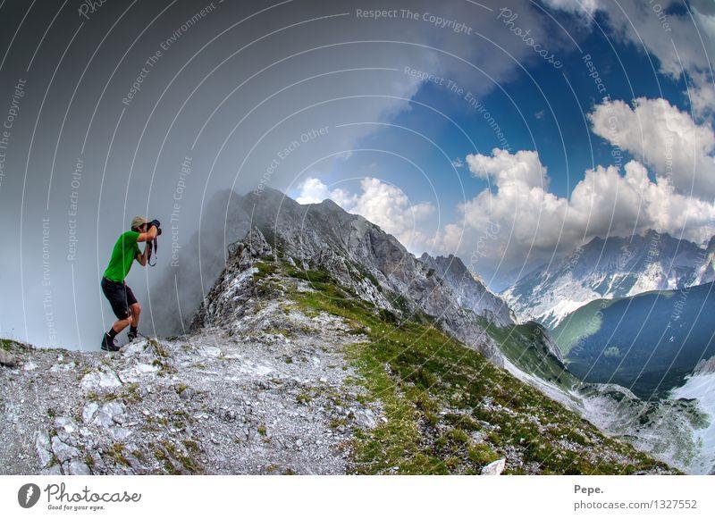 go out grün Berge u. Gebirge Freiheit Regen Gipfel Alpen Österreich unterwegs Fotograf Fotografieren