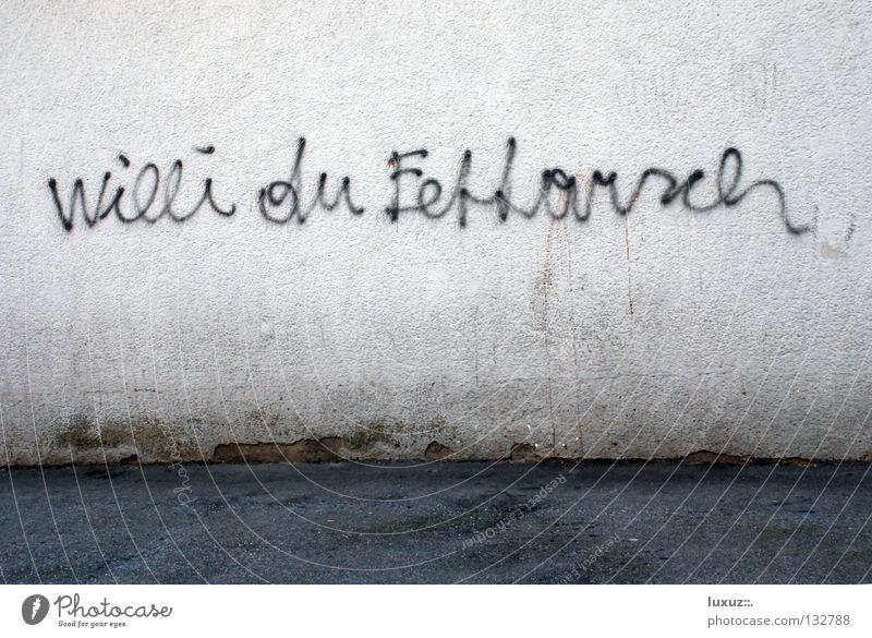 Armer Willi Stadt Graffiti Wand Humor Bildung Hinterteil Jugendkultur Fett Schwäche Redewendung Moral Psychoterror Spott Beleidigung dissen
